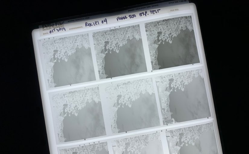 Film exposure latitude: A practical test